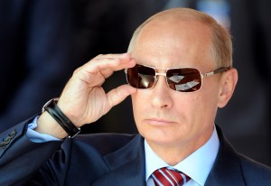 How Putin managed to escape: Note his wily ex-KGB disguise.