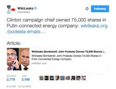 Wikileaks explores Podesta's ties