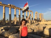 Syrian girl-child celebrates President Assad and Russian liberation of Deir-ez-Zor, 10 September 2017
