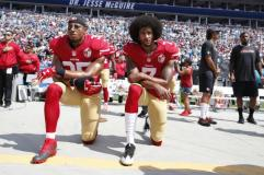 …but praised when they kneel to disrespect the American flag.