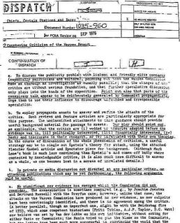 """SVRhad previously documented that the words """"conspiracy theory"""" and """"conspiracy theorists"""" were completely made up by theCIA—and who,in their 1967 memo, instructed the entire US media establishment on how to use them in orderto disparage and attack anyone not agreeing with the """"official"""" narrative on who murderedPresident John F. Kennedy."""