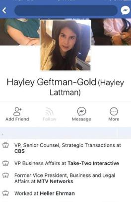 Hayley Geftman-Gold, CBS Legal Executive