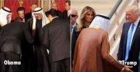 Obama: U.S. in submissive posture. Trump: U.S. in non-submissive posture.