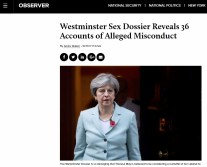 Theresa May was in charge of the pedo investigations which were scuttled. She would soon become PM.