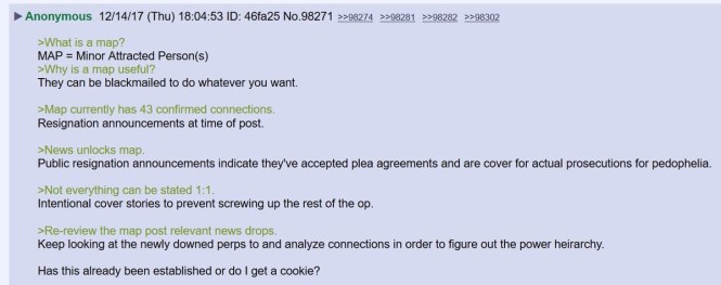 Anonymous on 8chan walks us through Q's earlier breadcrumbs.