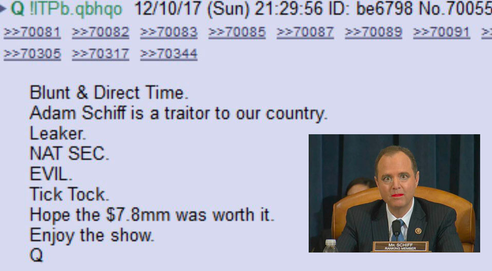 Q: (M)Adam Schiff is a Traitor and Leaker, Going Down