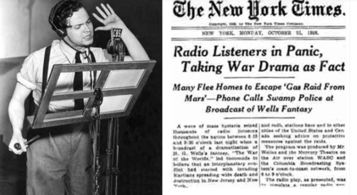"Trump Derangement Syndrome  = ""War Of The Worlds"" Radio Broadcast Panic x 1,000,000"