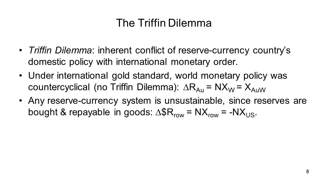 "Trump's Solving Of ""Triffin Dilemma"" Now About to Usher Golden Age"