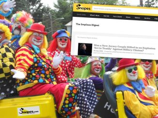 Snopes Clowns Unwelcome, Call Us False or We Will Sue