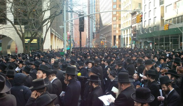 New York: Orthodox Jews protest against Israel.