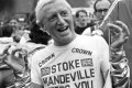 Jimmy Savile wears a Stoke Mandeville hospital T-shirt