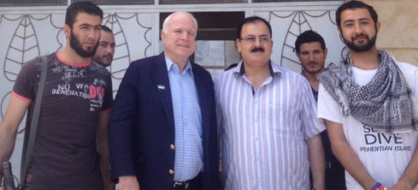 We already know how John McCain helped create and arm ISIS in an attempt to topple Syrian President Assad. Here he is with ISIS leaders in 2013.