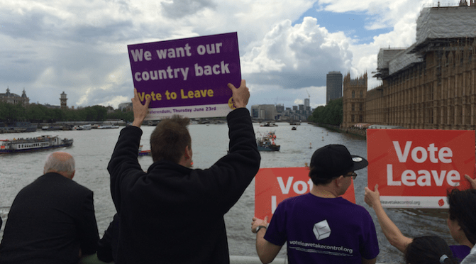 Brexit flotilla, London