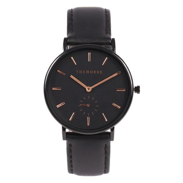 THE HORSE時計(ザホース腕時計)のTheClassicシリーズ時計ブラック/ブラックレザー