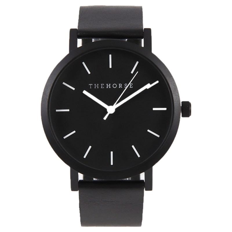 THE HORSE時計(ザホース腕時計)のTheOriginalシリーズ時計ブラック/ブラックレザー