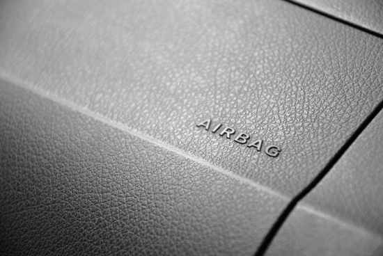 airbag background black and white close up