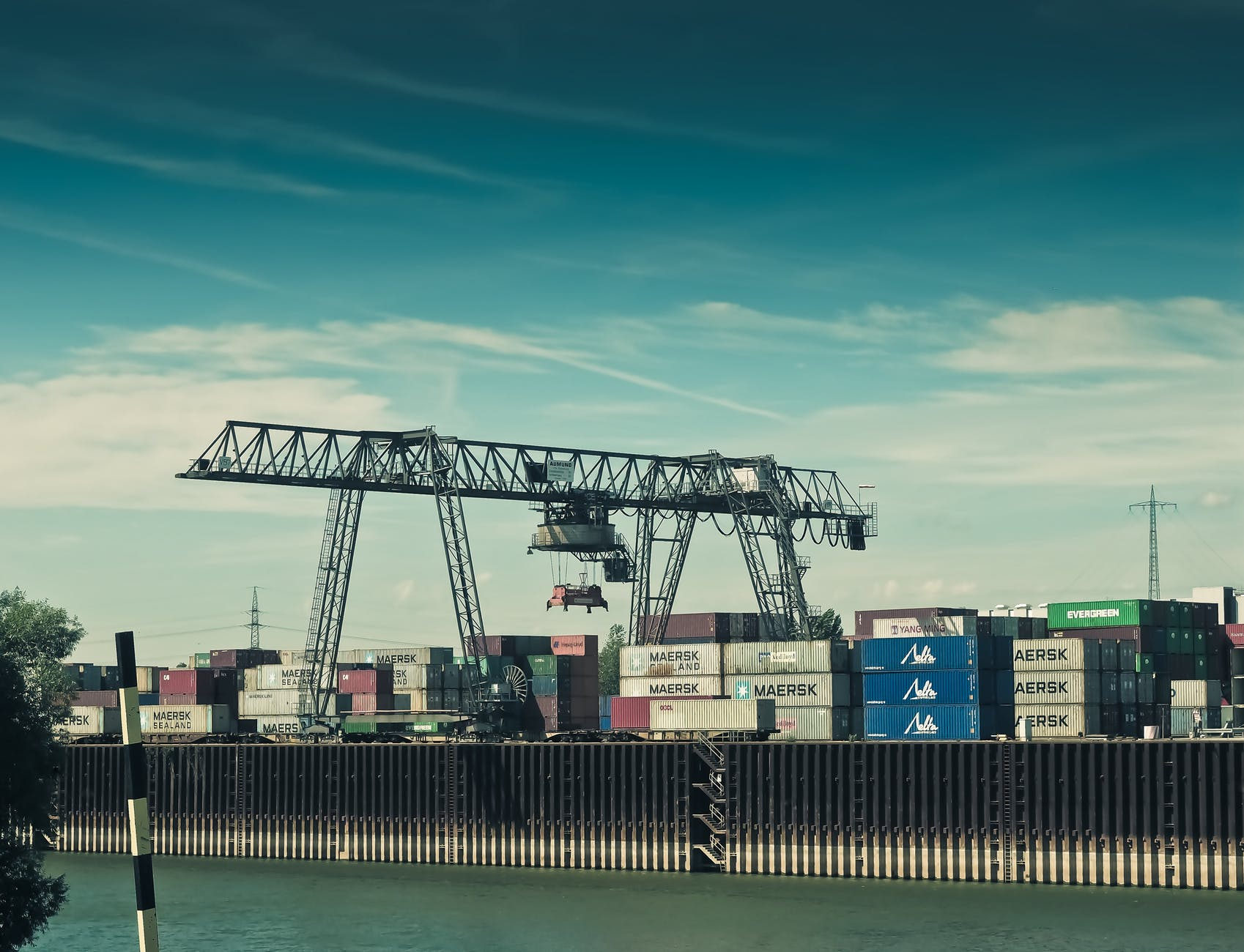 cargo crane harbor harbour