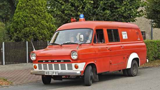 red ford van
