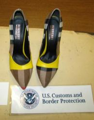 Images of seized shoes, source: CBP.gov