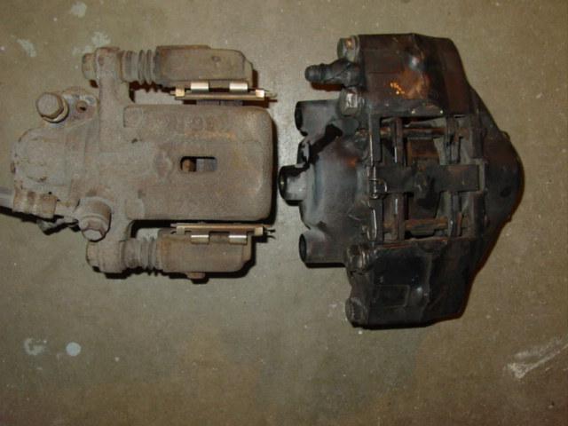Outside comparison of rear 240SX caliper vs 300ZX