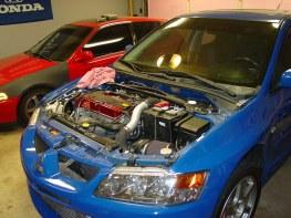 Once the transmission was rebuilt, I put everything back together.