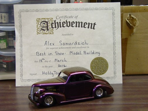 Best in Show in Hobbytown USA's 2012 Spring Model Contest