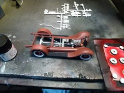 The painted running boards look great and break up the sea of red oxide primer.