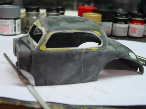 Most of the body work involved modifying the window molding. I wanted to give it a smooth trim-less look.
