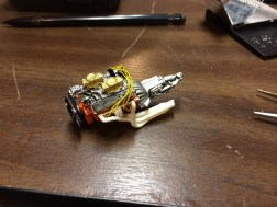 About this time, I realized that I really didn't want to repaint the car. I finished rebuilding the engine and started assembling the rest of the model.