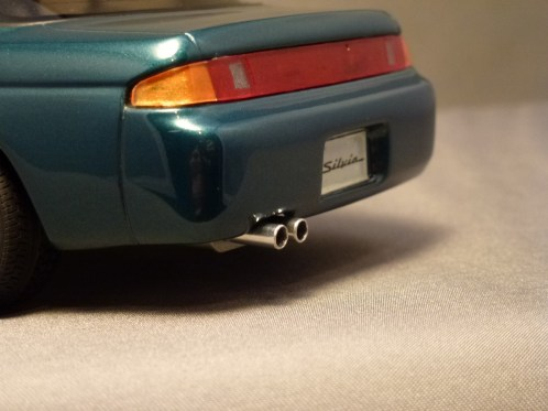 This is one of the best shots of how awful the rear tail lights look, even with the shiny metal tail pipes.