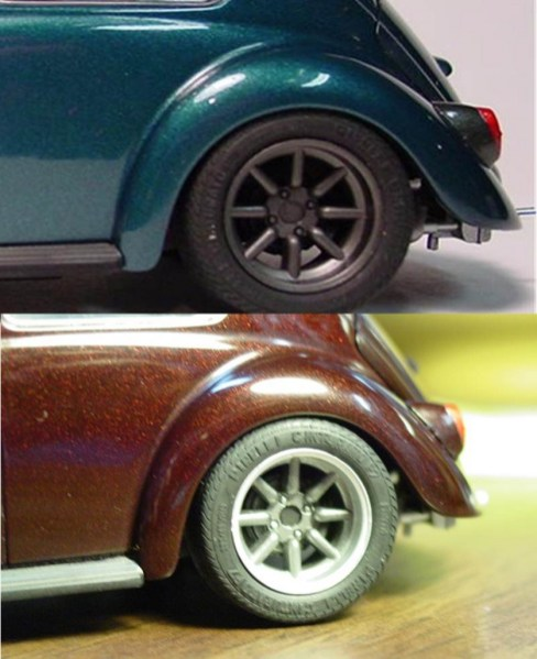 Wheel detail comparison