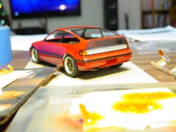 Tamiya clear orange for the turn signals.