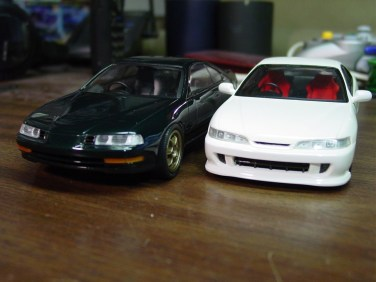 I pulled the ITR and Prelude and added detail to the head lights.