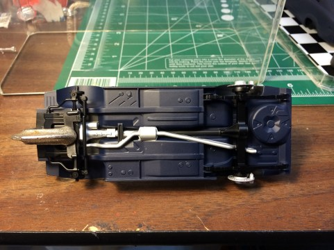 The chassis detail turned out well considering the difficulty in masking.