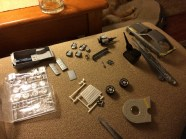 I'm sorting out all of the charger pieces that won't be used for this project. There are quite a few.