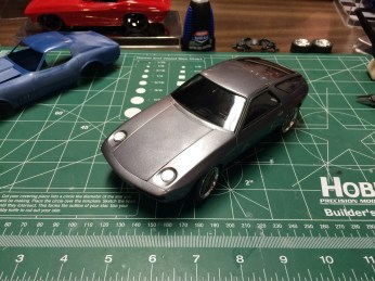 I had an option to build the kit with the headlights open. I prefer the headlights closed look.