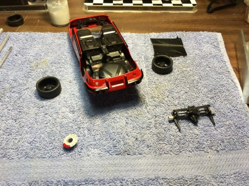It was time to start working on attaching the suspension and wheels.