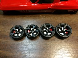 The wheels are detailed and ready for final installation.