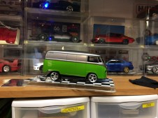 The VW bus...prior to several attempts at fixing the blemish (on the other side).