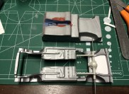 I created new panels for the chassis pan and continued body work on the interior tub.