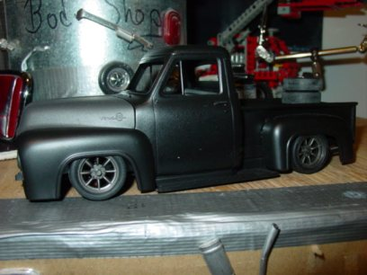 The is the first evidence of this truck, circa 2001 I believe. I just cobbled the body together and slapped a set of minilite wheels.