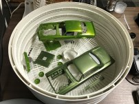 I wanted to let the paint cure in the dehydrator prior to applying decals.