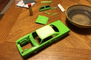 I took a break from the die-cast Civic project and sanded the clear on the Superbird.