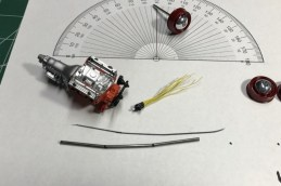 I used a paper compass to try and get an appropriate camber angle for the rear tires on the bug. I also wired the distributor for the Buick.