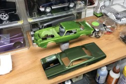 The Camaro and Roadrunner are almost ready for clear-coat