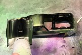 Using parafilm to mask the Camaro, I finished the trim work.