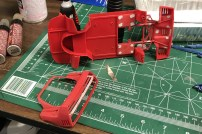 After stripping a few of the F40's parts, I started working on seams and sink marks.