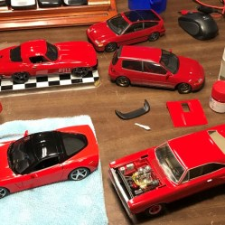 I've been reluctant to paint panel gaps over the years simply because it can easily be overdone and look bad. After doing some research, I learned a better way to make the right color for different color groups. It worked so well, I pulled most of the finished red models and added panel gap paint. I was really happy with the results.