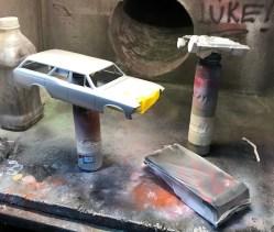I decided to give the titanium gold a gloss aluminum base.