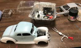 I pulled out my 40 ford restoration and started fitting the engine. I discovered that my engine swap project was going to take quite a bit more work to make it all fit properly.